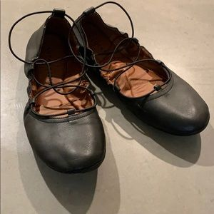 Lucky brand strapped ballet flats